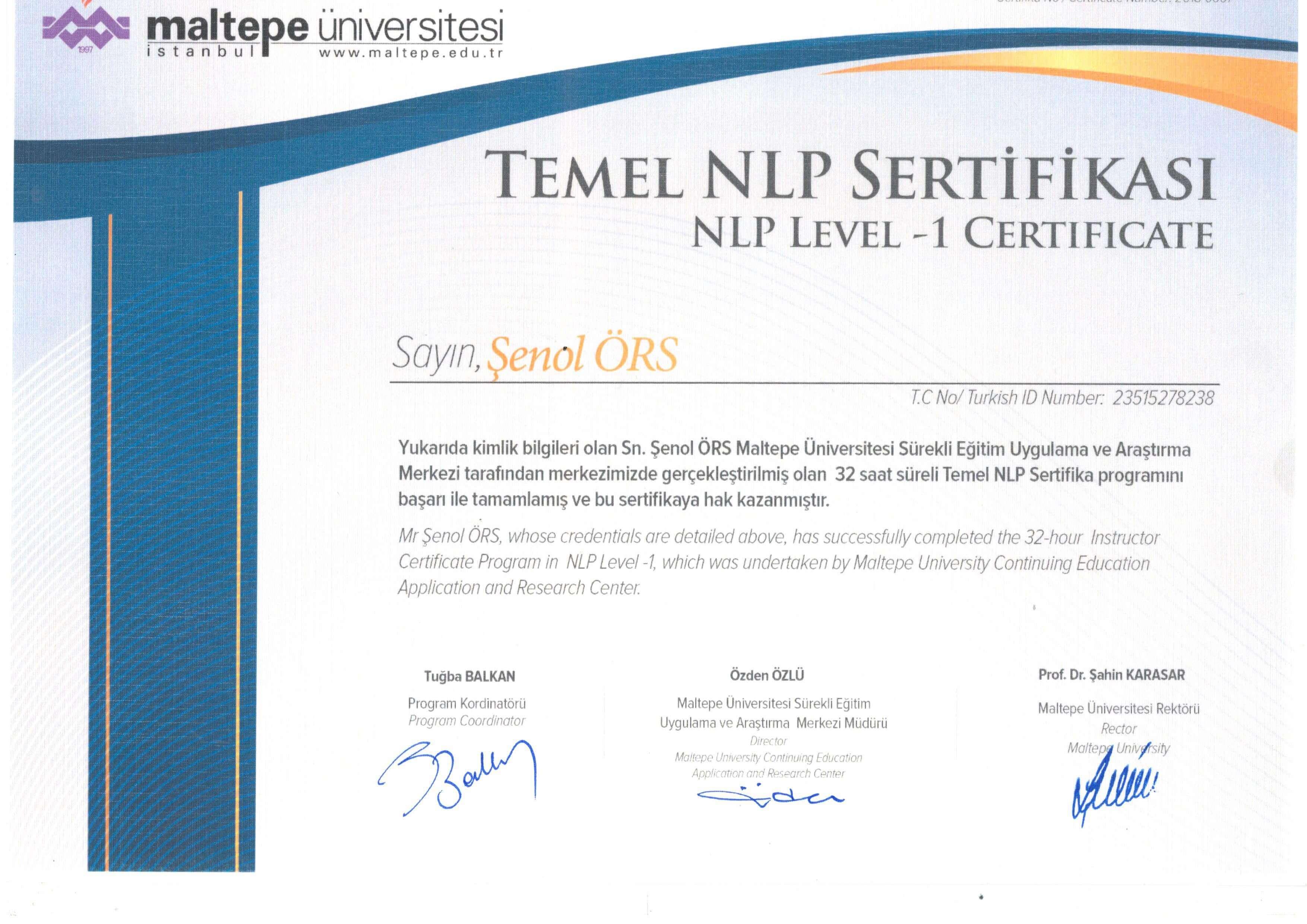 temel nlp sertifikası